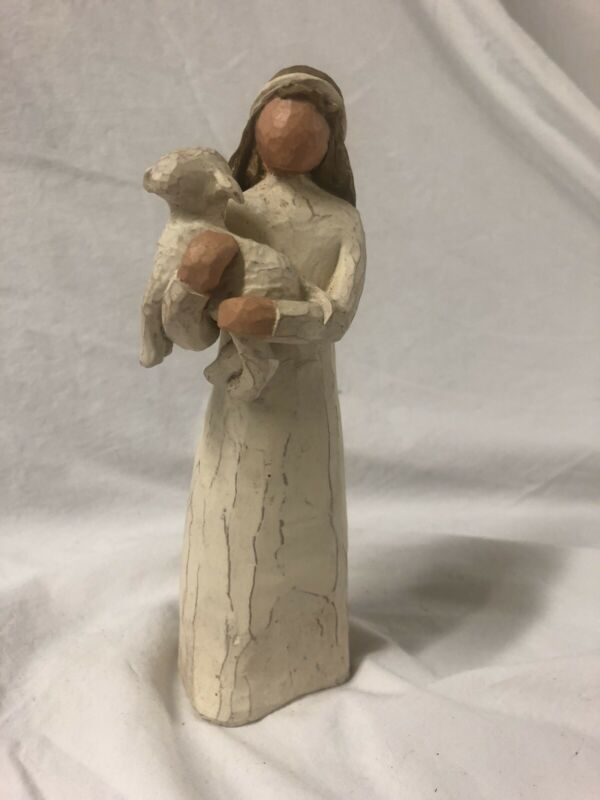 Willow Tree nativity shepherd with lamb
