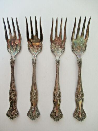 Antique Silver Desert Forks, set of 4 Rogers Bros.