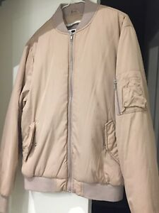 Blush pink men's bomber jacket topshop size small