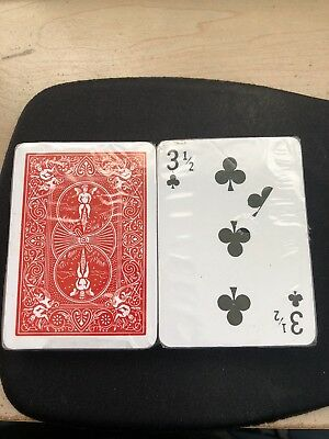 10 3 1/2 Clubs Gimmick Red Back Bicycle Playing Card magic trick supplies  (Magic Supplies)