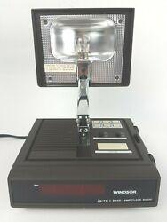 Vintage Windsor AM/FM 2 Band Hi/Low Lamp Alarm Clock Radio 1988 Model WE123