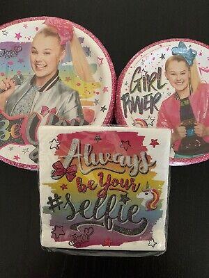 Nickelodeon JoJo Siwa Party Supplies Set (16 Plates, - Nickelodeon Party Supplies