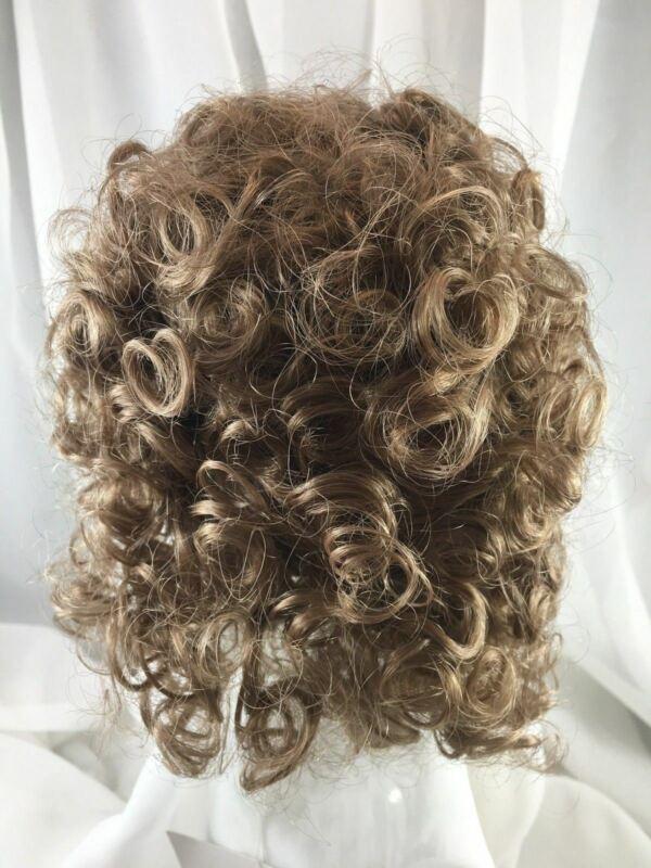 "10/11"" Messy Curls Auburn Doll Wig Reborn OOAK BJD Bisque Repair ERIKA"
