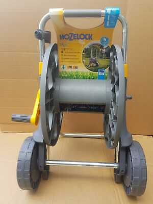 Hozelock 90m Assembled Hose Cart with Wheels & Soft-Grip Handle - no Hose - Grey