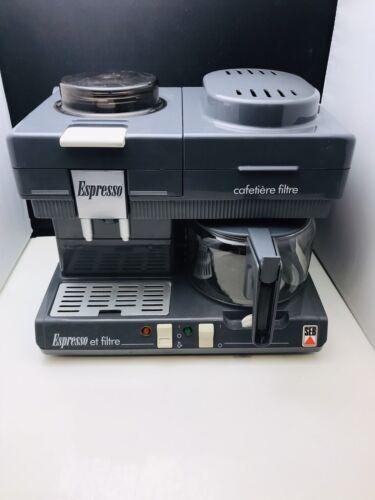 Vintage cafetiere expresso et filtre seb machine cafe espresso tres bon etat