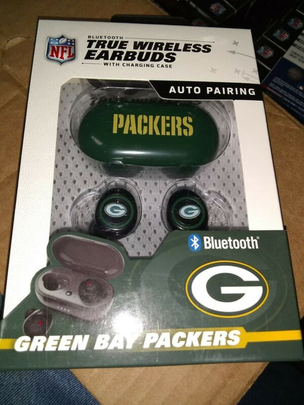 Green Bay Packers TRUE WIRELESS EARBUDS + Charging Case (all smart phones tablet