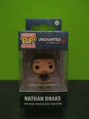 Funko Pop Key Chain Uncharted A Thief's End # 4 Nathan Drake Vinyl Figurine *