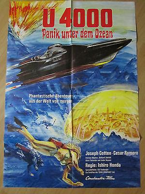 Filmposter * Kinoplakat * A1 * U 4000 - Panik unter dem Ozean * 1972 gebraucht kaufen  Heide
