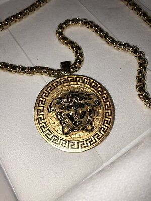 Authentic Versace Chain Gold Plated Medusa With Receipt