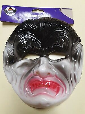 Scary Kids Halloween Mask DRACULA FACE Costume Cosplay Prop ages 6+](Dracula Halloween Face)