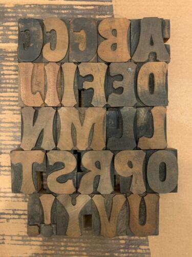 Antique Letterpress Wood Type Tuscan 14 pica .928 Vandercook Press