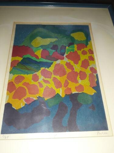 "Framed Woodblock Print Entitled ""Koyo"" By Bill Paden"