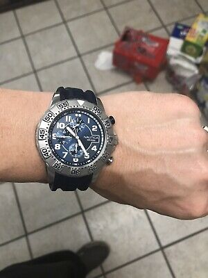 Mens Nautica WR100M Chronograph Watch Runs Well