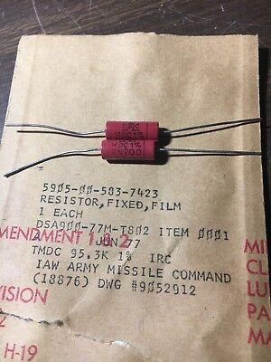 Nos Irc 95.3k 1w Rn70d Precision Resistors Vintage 1977 Military Surplus 100k