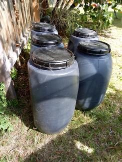 60 litre plastic barrels / fermenters storage bins