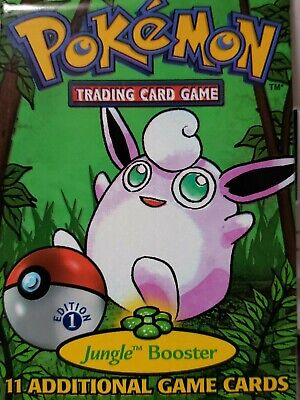 Pokemon: UNOPENED 1ST EDITION Jungle Booster Trading Card Game - 11 Cards