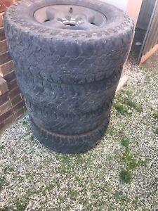 Set of 4 tyres and rims Kurunjang Melton Area Preview