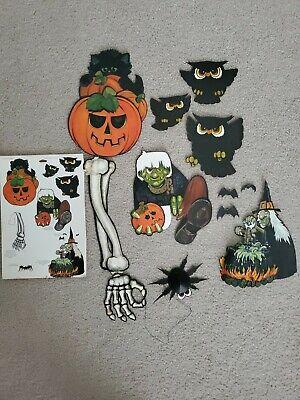 Vintage Hallmark Halloween Decorations - Die Cut - Complete Set!