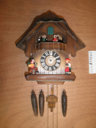 German made working SEE VIDEO musical Chalet  1 Day Cuckoo Clock CK2089