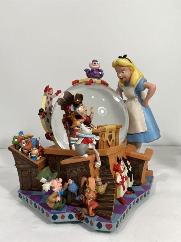 Disney Alice in Wonderland 50th Anniversary Snow Globe.