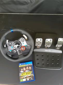 Logitech G29 Wheel Set & Pedals + F1 2017 Playstation 4