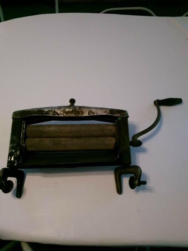 Vintage  Antique Wringer Wood/Metal Roller For Washing Machine