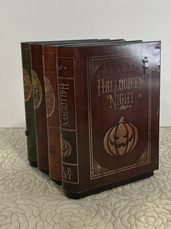 """8"""" Animated Moving Witch Spell Books Haunted Halloween Book Shelf Prop Decor"""