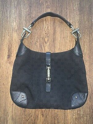 Gucci Vintage Black Over Shoulder Bag - 100% Genuine