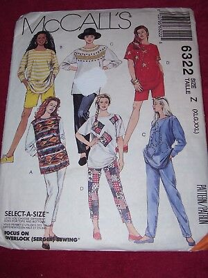 💐 McCALL'S #6322 - LADIES CASUAL SUMMER or WINTER SPORTSWEAR PATTERN  20-26 FF for sale  Shipping to India