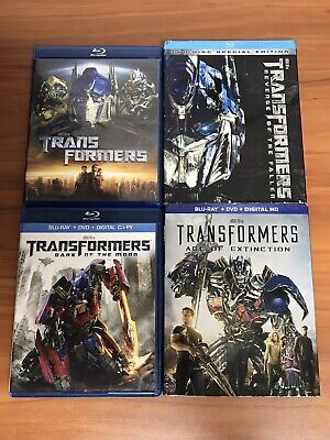 Transformers 4-Movie Blu-ray Lot Collection