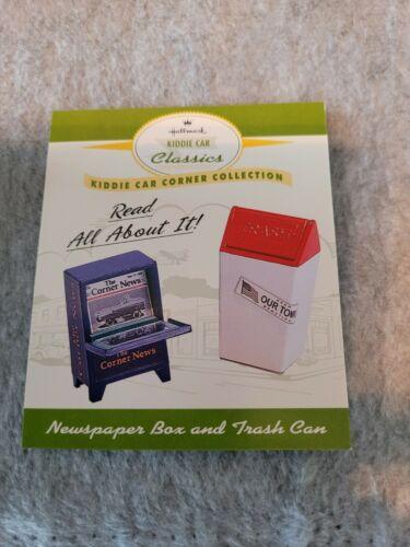 1998 Hallmark Kiddie Car Classics Newspaper Box & Trash Can ~ NEW