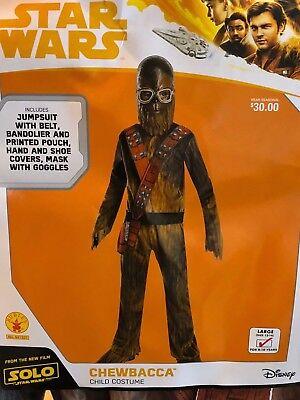 NEW Star Wars Chewbacca Halloween Costume Youth/Child Kids Size Large L - Chewbacca Halloween Costumes