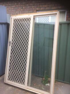 Near new prime rose aluminium sliding door