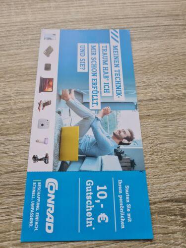 10 EUR Gutschein für 1 Einkauf bei Conrad Electronic, gültig bis 31.1.2022