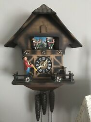 Vintage German Cuckoo Clock Runs Well