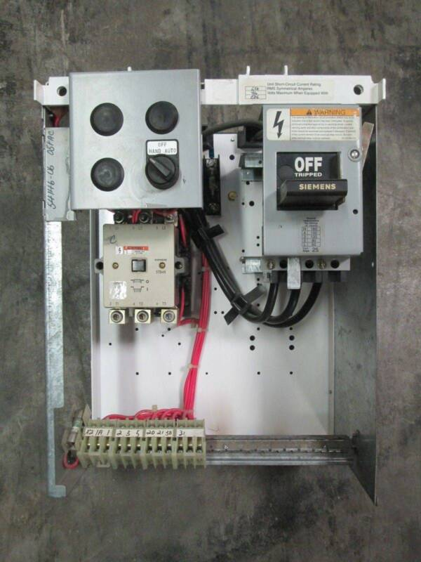 "Siemens Model 95 Size 3 Contactor 100 Amp Breaker MCC MCCB Bucket 100A Sz 3 18"""