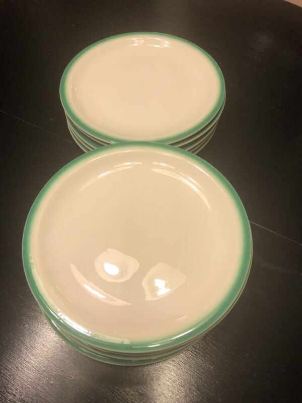 BUFFALO CHINA USA Restaurant Ware Plates Green Spray Mist Air Brush - Up to 11
