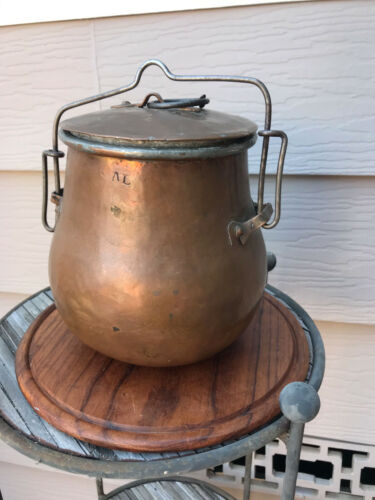Antique Copper Cookware  Porridge Pot 17th Century Military Revolutionary War