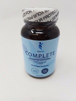 Digest Md Digestive Complete 13 Unique Enzyme Complex 90 Veggie Caps - SEALED! Complex 90 Veggie Caps