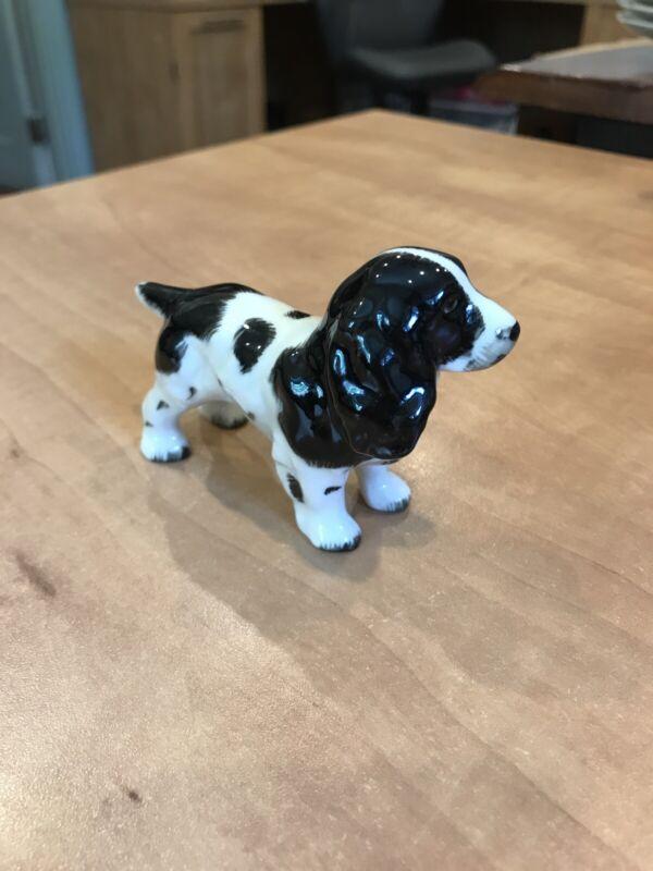 Vintage GORT Irish Porcelain Springer Spaniel Dog Figurine
