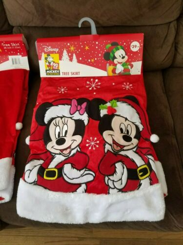 DISNEY 90TH *NEW* Disney Mickey Mouse Minnie Mouse Christmas Tree Skirt 48""