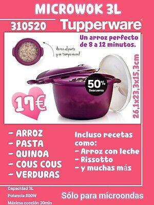 Tupperware. Micro wok arrocera, cocer arroz, pasta microondas, fácil y rápido