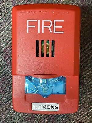Siemens Fire Alarm S54329-f22-a1 Red Wall Mount Horn Strobe Emergency Safety