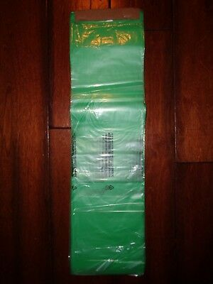 100 Pack Newspaper Bags 5.5 X 19 0.4 Mil. Green Bags