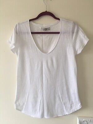 Abercrombie And Fitch Basic White Tee, Womens, Tshirt, New, Size L