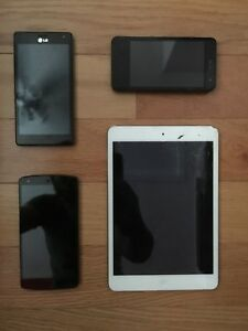 iPad Mini, LG Optimus 4X, LG G2x, Google Nexus 5. For parts