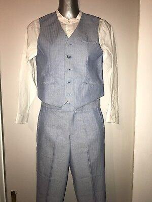 Monsoon Age 11 Boys Blue Suit great junior prom/ wedding/ occasion wear/ smart