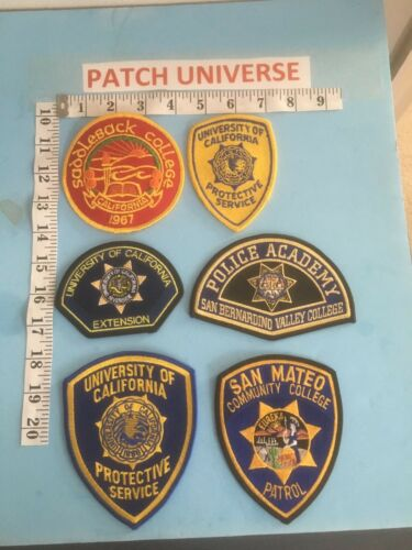 LOT OF SIX  DIFFERENT  CALIFORNIA  UNIVERSITY  SHOULDER PATCHES N052