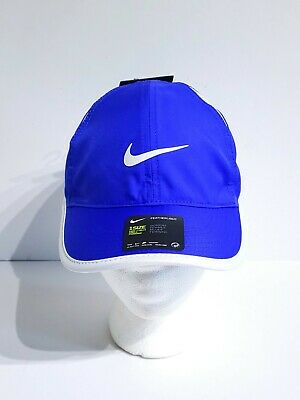 833e379401033 Nike Featherlight Running Tennis Hat Cap Blue White 679424-452 Womens One  Size