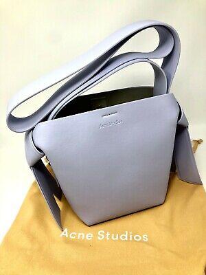 Acne Studios Musubi Mini Small Leather Bag Pale Blue NEW
